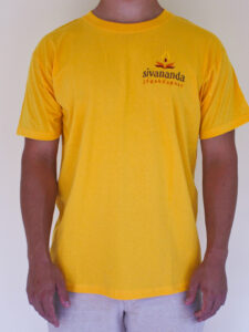 Sivananda férfii kerek nyakú póló sárga