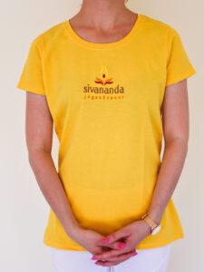 Sivananda női kerek nyakú póló sárga