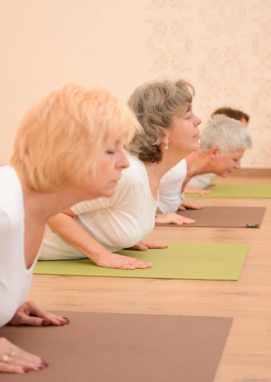 Online senior jóga