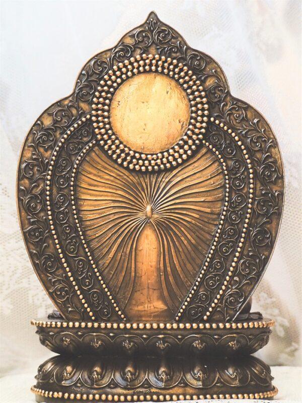 Buddha szobor hátulja